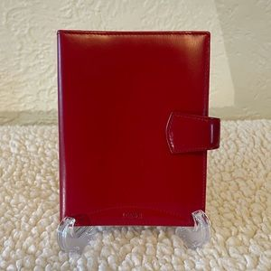 LOEWE leather agenda in red